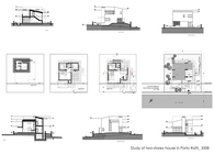 Study of two-storey house in Porto Rafti, Attica, Greece
