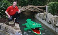 David Fautley created a crocodile as part of his selection process for Legoland. It was partly to do with the fact that I had a lot of green bricks. (The Guardian; Photograph: Legoland Windsor)