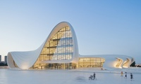 Zaha Hadid's Heydar Aliyev Centre in Baku, Azerbaijan. Image via theguardian.com