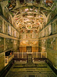 LEDs will be installed in the Sistine Chapel to help prevent the work's deterioration. Credit: Wikipedia