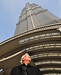 Adrian Smith at Jin Mao Tower in Shanghai  AS+GG
