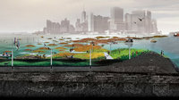 Scape/Landscape Architecture WATERWORLD A reef constructed from rock and shell piles to host oyster growth, as seen in a rendering for a proposal in Brooklyn. Such a structure could filter water and mitigate storm surge