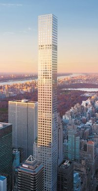 Rendering of the Rafael Viñoly-designed 432 Park Avenue condominium tower, now New York Citys second tallest building. (Image: dBox/CIM Group/Macklowe Properties; via nybooks.com)