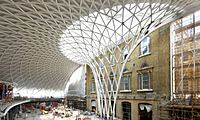 Scaling new heights ... the new concourse at Kings Cross