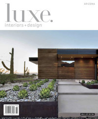 "One of our favorite CP Drewett-designed homes graced the pages of the Winter 2015 issue of Luxe Interiors & Design. The article, entitled ""Lofty Exposure,"" features a north Scottsdale home in which architecture and collection collided creating an award-winning result."