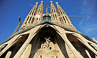 Work continues on Antoni Gaud's Sagrada Famlia (Basilica and Expiatory Church of the Holy Family). Photograph: David Ramos/Getty Images