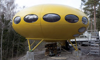 Ready for lift-off? … the restored Futuro house via the Guardian