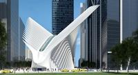 Rendering of the proposed World Trade Center Transportation Hub, currently clocking in at almost $4 billion dollars.