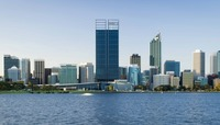 Perth skyline with new BHP Towers!