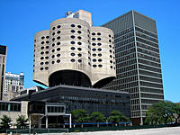 Prentice Women's Hospital, designed by Bertrand Goldberg