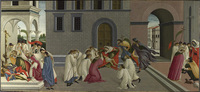 'Three Miracles of St. Zenobius' (c.1500) by Sandro Botticelli The National Gallery, London (WSJ)