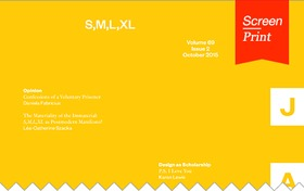 Screen/Print #37: S,M,L,XL from the Journal of Architectural Education