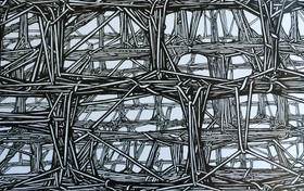 Oyler Wu Collaborative in ink, graphite and steel