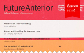 Screen/Print #27: Future Anterior, a champion of historic preservation