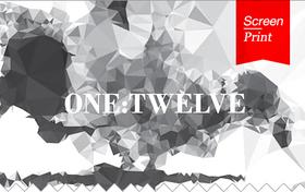 Screen/Print #13: One:Twelves Black and White