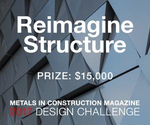 Metals in Construction Magazine 2017 Design Challenge: Reimagine Structure