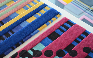 """Cutting a Rug: Making the Abstract Tangible With Urban Fabric + Elena Manferdinis """"Building Portraits"""" area rugs"""