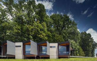 Fallingwater Institute gains 4 spartan yet beautiful dwellings by Bohlin Cywinski Jackson