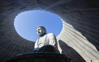 "Tadao Ando's ""head-out Buddha"" creates ample opportunities for reflection, both spiritual and literal"