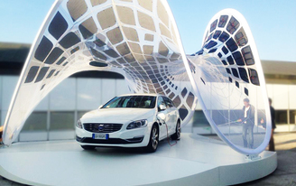 Synthesis Design + Architecture launches the much-anticipated Volvo Pure Tension Pavilion.