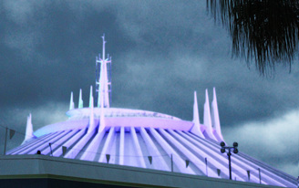 popcorn ceilings at Space Mountain, Disney World