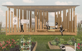 "McGill University students to design triangular ""Growing our Community"" garden pavilion in Ottawa"
