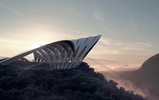 "Zaha Hadid Architects looks inward in their current ""Unbuilt"" exhibition in London"