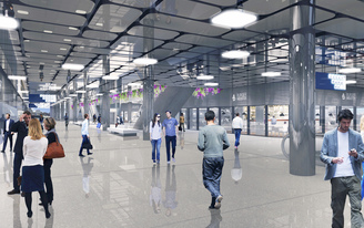 WAA begin construction on the IJhal within Amsterdam Centraal