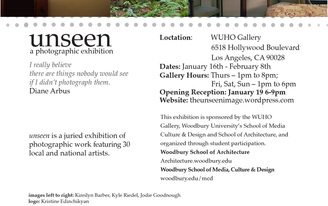 Unseen at WUHO Gallery