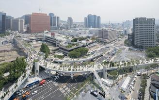 Korea's High Line, the MVRDV-designed Skygarden, opens in Seoul