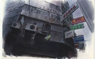 Geek out to the architectural drawings used in classic sci-fi anime in this London exhibition