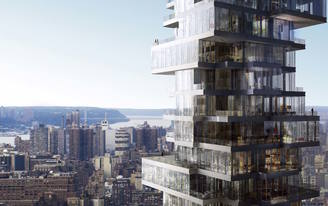 Watch this time-lapse construction video of Herzog + de Meurons Jenga-like 56 Leonard in NYC