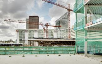 WAA progress construction on the AvB Tower in The Hague