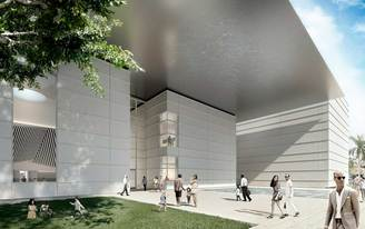 The Norton Museum of Art celebrates construction milestone of its expansion designed by Foster + Partners