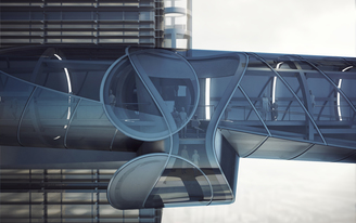 Sky bridge by Preliminary Research Office