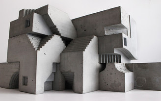 Brutalist sculptures by David Umemoto