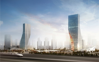 Harbin Twin Towers designed by spatial practice