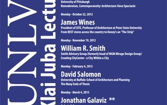 UNLV SoA - Klai Juba Lecture Series 2012-13