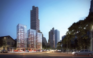 "Ennead Architects envision the ""Charging Towers"" of the near, electric-car future"
