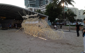 UMiami Students collaborate with Artist Theo Jansen during ArtBasel