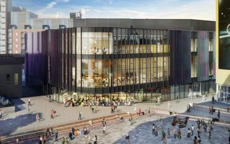 Manchester arts centre HOME designed by mecanoo tops out