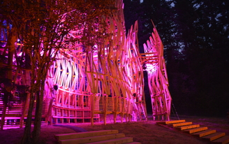 Pickathon Festival stage, designed by PSU students, will be turned into transitional housing when the music stops
