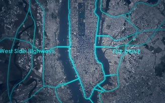 'Loop NYC' proposes driverless auto expressways across Manhattan and a 13-mile pedestrian park