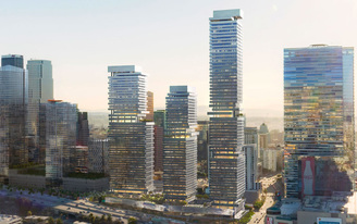 SOM and P-A-T-T-E-R-N-S team up to design a building complex for DTLA
