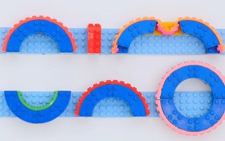 """Up your LEGO-building game with the Nimuno Loops """"LEGO-compatible tape"""""""