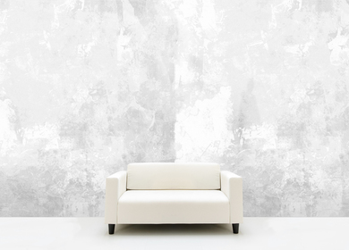 White Filler Concrete Wallpaper