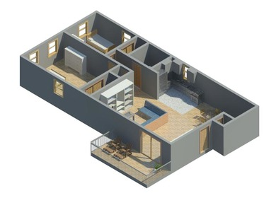 revit2012 apartment spaces
