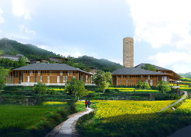 Tujia minority complex in Shizhu