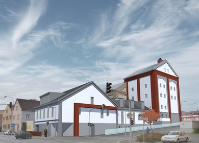 competition for the reconstruction of the brewery Domažlice