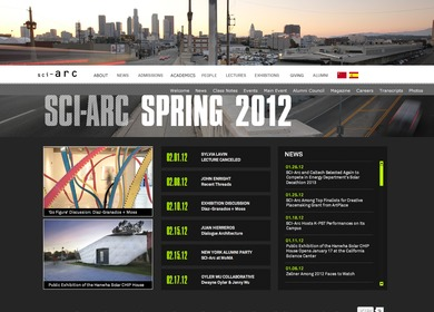 SCI-Arc Website